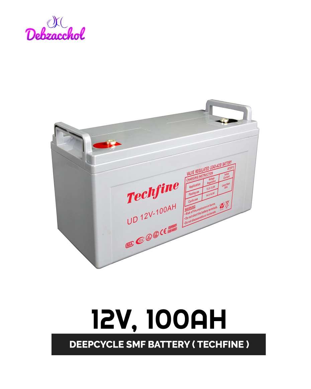 12V 100AH BATTERY (TECHFINE )